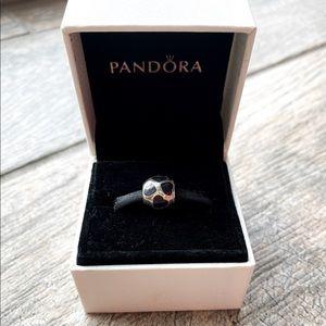 Pandora Black Hearts Round Charm